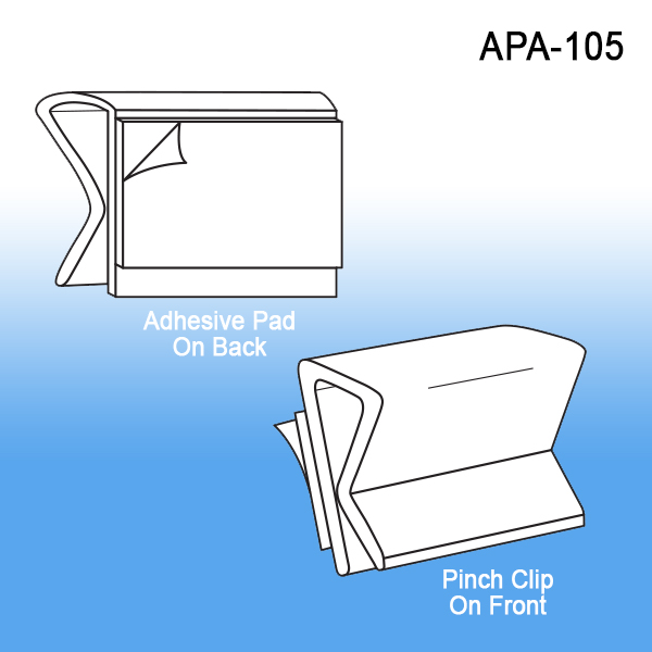 All Purpose Adhesive Clip Sign Holder, Wire Rack, Wall, Clip Strip Corp.