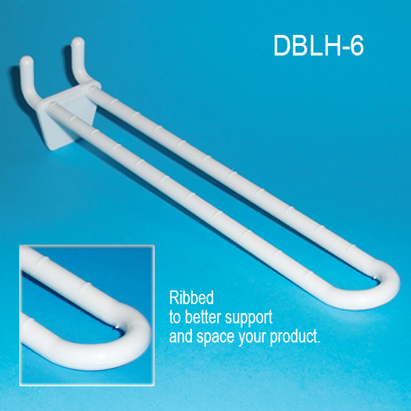 6 Quot Double Loop Pegboard And Slatwall Hooks Plastic Dblh 6