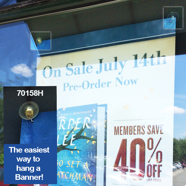 Suction Cup Sign Holder With Metal Hook Glass And Windows