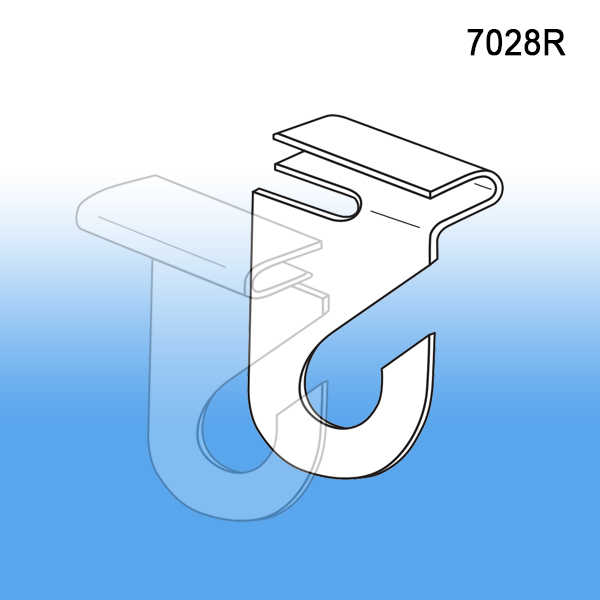 retail lightneasy plastic ceiling drop clear suspended hook twist signs hooks on hanging from net dgs