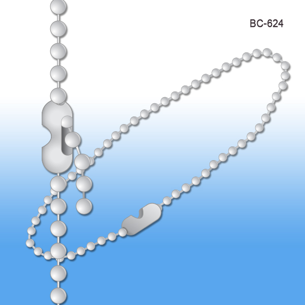 plated number beaded ball chain bead nickel np chains inch