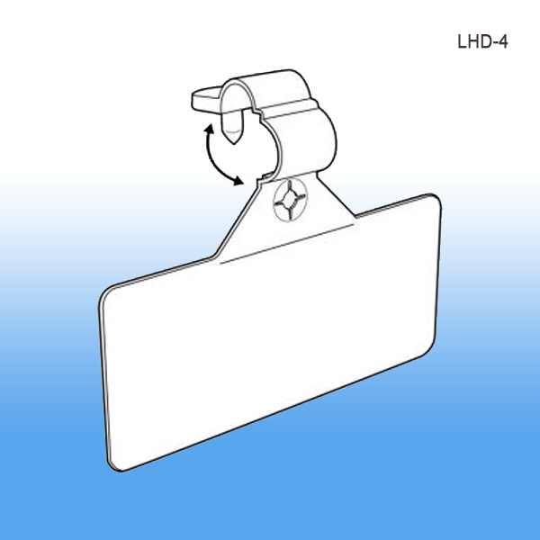 Secure-Lok Wire Label Holder, Wire Store Fixtures, Retail Display