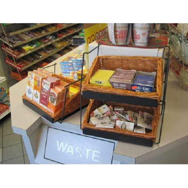 Wicker Basket Counter Display 3 Baskets 18 Quot H Store