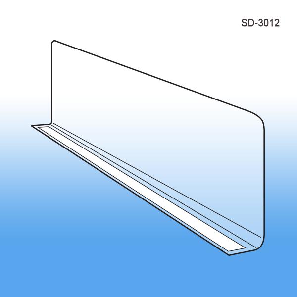 Econo-Line Plastic Clear Shelf Dividers   3\