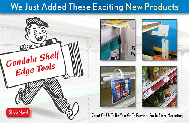 shelf edge signholders for gondola displays