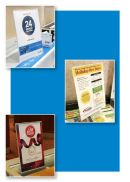 Slant Back Acrylic Vertical Sign holders | POP Signage Hardware | Clip Strip Corp.