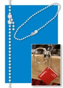 Beaded Chains - Metal | Clip Strip - Display Advertising
