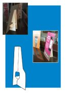 "Self Stick Cardboard Easels, Single and Double Wing, 5"" and 7"""