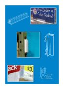 Wall Mount Signage Hardware - Mounted Sign Holder | Clip Strip