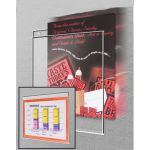 "Wall Mount Acrylic Sign Holder, 11"" x 8.5"", 507"