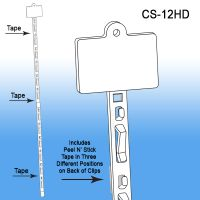 Clip Strip® Merchandising Strip, w/ Header, CS-12HD