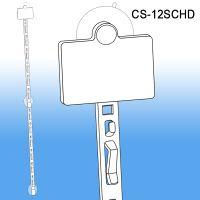 Clip Strip® Merchandising Strip, w/ Suction Cups/Header, CS-12SCHD