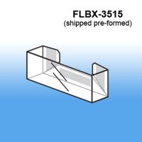 Pre-Formed Peel & Stick Literature business card Holder, FLBX-3515
