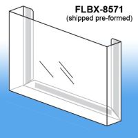 Pre-Formed Peel & Stick Literature Holder, FLBX-8571