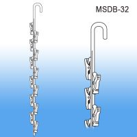 12 Station Double Sided Metal Merchandising Strip, MSDB-32