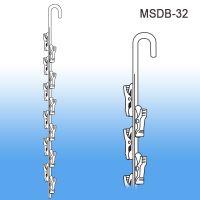 12 Station Double Sided Metal Merchandising Strip, MSDB-32