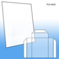 8.5 x 11 Easel Sign Holder w/ Fold, Peel & Stick 4 x 5 Brochure Pocket, Unassembled, PCH-8545