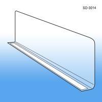 "3"" x 13-9/16"" Econo-Line Shelf Divider, SD-3014, adhesive mount"