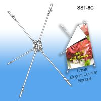 X Countertop Banner Stand Display, SST-8C