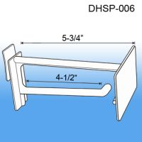 "6"" Corrugated Power Panel Display Hook with Scan Plate, DHSP-006"