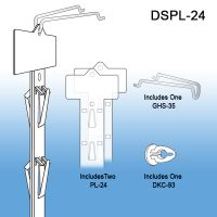 Double sided plastic clip strip, DSPL-24
