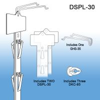 Double sided flag position plastic clip strip, DSPL-30