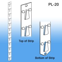 "Posi-Lok 22 3/4"" - Hook Strip Retail Display 