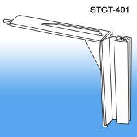 metal perforated gondola shelf flex sign topper holder, STGT-401