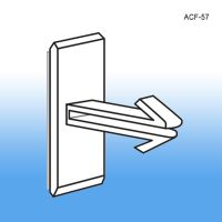 price channel mount arrow fastener coupon holder with adhesive,  ACF-57