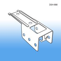 Double Clip Strip Hanger | Metal | Gondola Shelving, DSH-888
