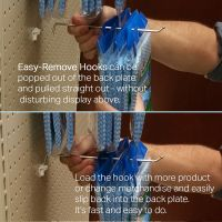 EBH-8, easy restocking pegboard hook