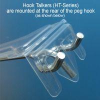"""label holder for 10""""-11"""" peg hook, HT-100"""