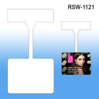 rectangulr shelf wobber sign holder, RSW-1121