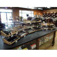 product merchandiser, retail store supply, wicker baskets, WBCD-318