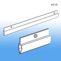 "36"" Long white pvc banner holder, 837-36"