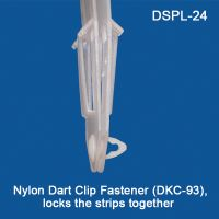 Two 12 Station Strips, held together with one Nylon Dart Clip Fastener (DKC-93), DSPL-24