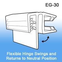 Grip-Tite™ Hinged Flush Sign Holder for Thin Shelves, EG-30