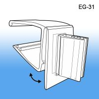 "Grip-Tite™ Hinged Flag Sign Holder for 3/4"" Shelves, EG-31"