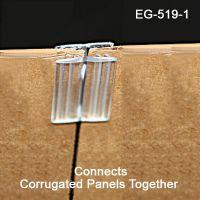 Clear PVC gripper sign holder, EG-519-1