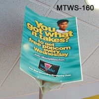 mobile triway ceiling sign holder, MTWS-160, by Clip Strip Corp.