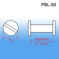 "Post & Binder Lock Screws, expands ½"" to ¾"""