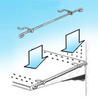 PWB-15, Power Panel Hanger Adapter Bar - Perforated Shelves, Sidekick Hanging
