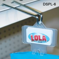 Double sided plastic Clip Strips, Includes Hanger and Peel N Stick Pads, DSPL-6