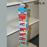 The Double sided plastic Clip Strip will accommodate many different products. Includes Hanger, DSPL-6