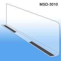 """3"""" x 9-9/16"""" Econo-Line Shelf Divider, Magnetic Mount, MSD-3010"""