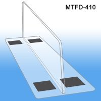 "3"" tall x 10"" deep Thermo Formed Magnetic Based Shelf Divider, MTFD-410, 3"" wide base"