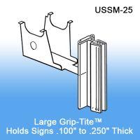 Under Shelf Spring-Mount Grip-Tite™ Sign Holder, with Hinge, USSM-25