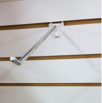 "slatwall hook in metal with easy removal, 8"", EBH-8"