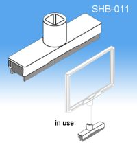 Magnetic Stem Base | Sign Frame System Components, SHB-011