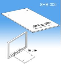 Flat Shovel Wedge Base | Sign Frame System Components | SHB-005